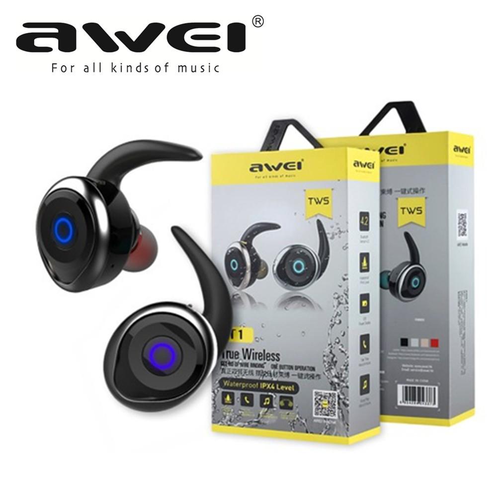 79d1ab802e1 Awei T1 TWS Mini Bluetooth V4.2 Earphone Headset Double Wireless Earbuds |  Shopee Malaysia