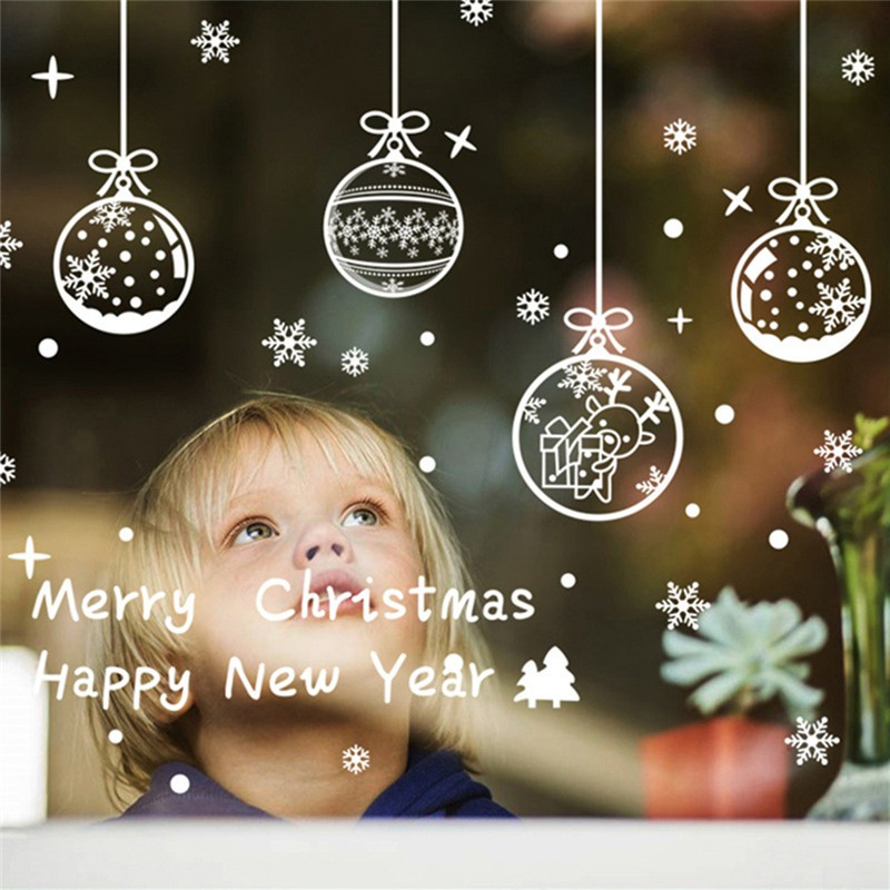 Christmas Wall Decals Removable.Merry Christmas Wall Art Removable Home Window Wall Stickers Decal Party Decor