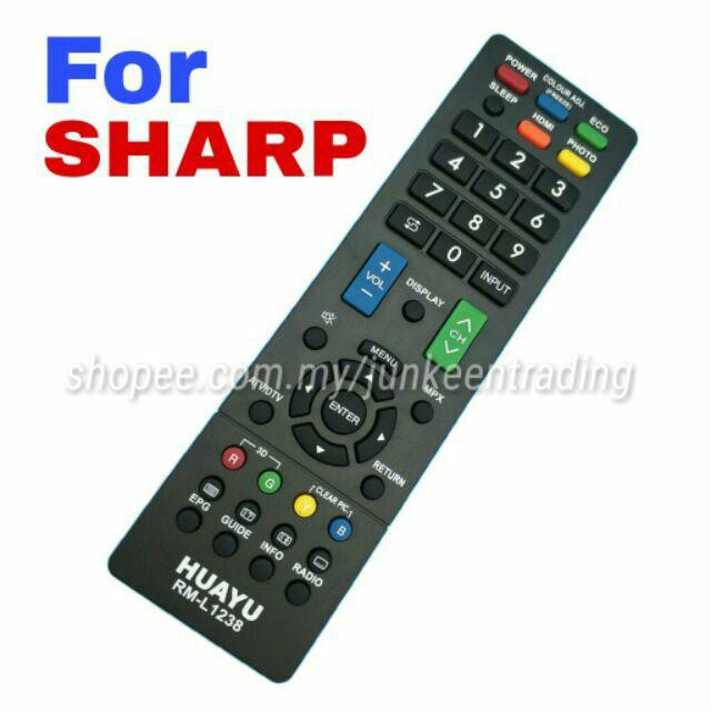 SHARP LED TV Universal Remote Control (RM-L1238)