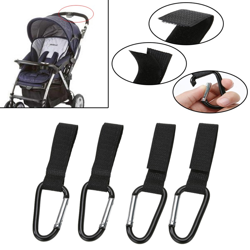 Durable Pushchair Accessories Hanging Stroller Hooks Shopping Bag Clip