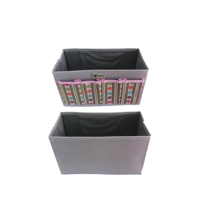 MALAYSIA: BAKUL ALAT TULIS 4 POKET / BAKUL ALAT SOLEK / Non-Woven Cosmetic Storage Box - 4 Pocket