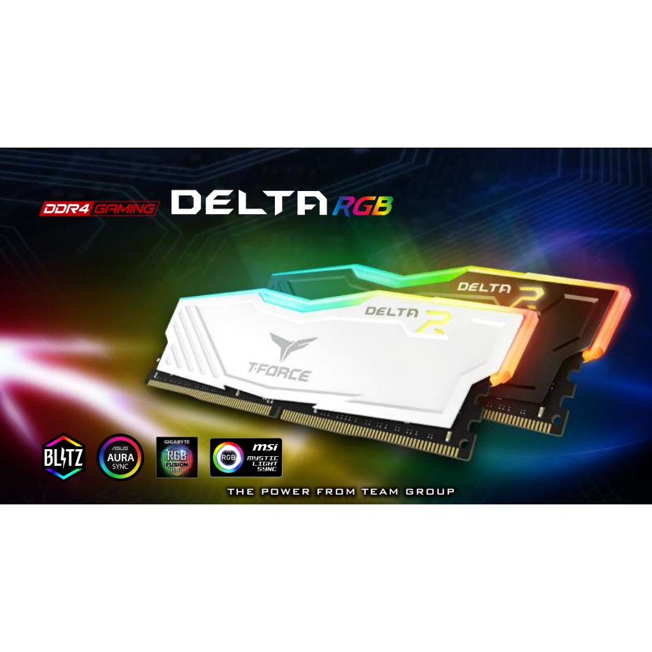 # TEAMGROUP T-Force Delta RGB [1 x 8GB] 2666MHz RGB DDR4 CL15 # [BLACK /  WHITE]