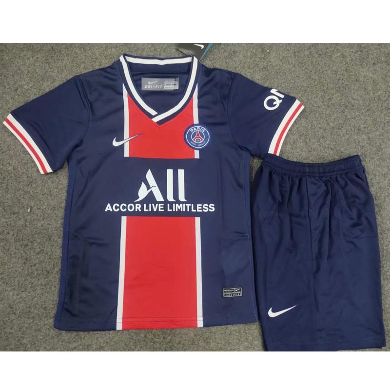 Newest 2020 21 Kids Paris Saint Germain Home Jersey Set Psg Soccer Jersi Suit High Quality Boy S Sportswear Football Shirt Children Training Wear Clothes Tops Pants Shopee Malaysia