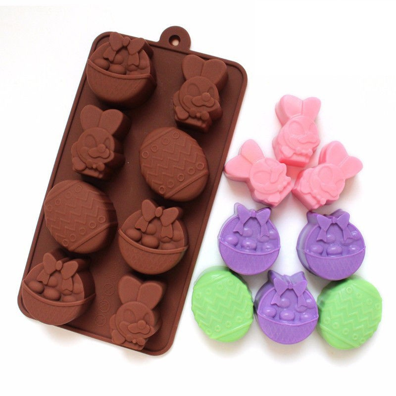 Cake Mold Soap Mold 6-Easter Egg Flexible Silicone Mould For Candy Chocolate