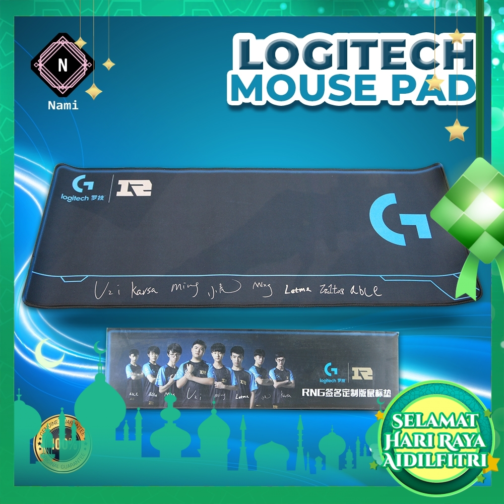 Logitech Rng Signature Edition Mouse Pad Large Size 800*300*4mm Table Mat Keyboard Pad Fine Surface Apex Game Cloth and