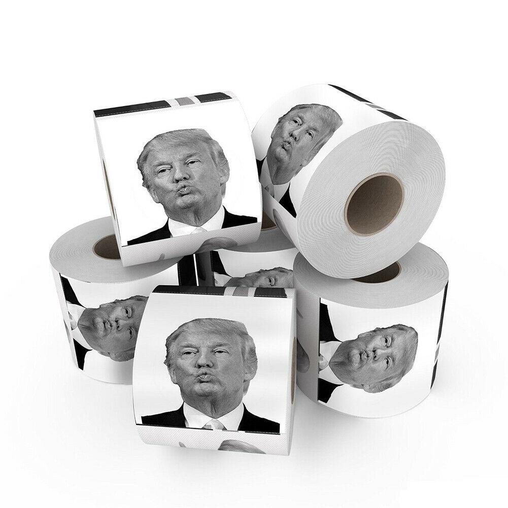 1-3 roll President Donald Trump Toilet Paper Roll Gag Gift Prank Joke home Hotel