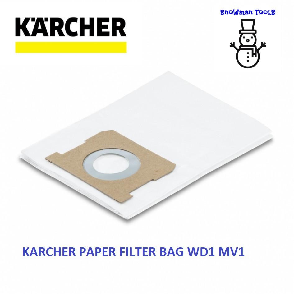 KARCHER WD1 MV1 VACUUM CLEARER PAPER FILTER BAG 28630140