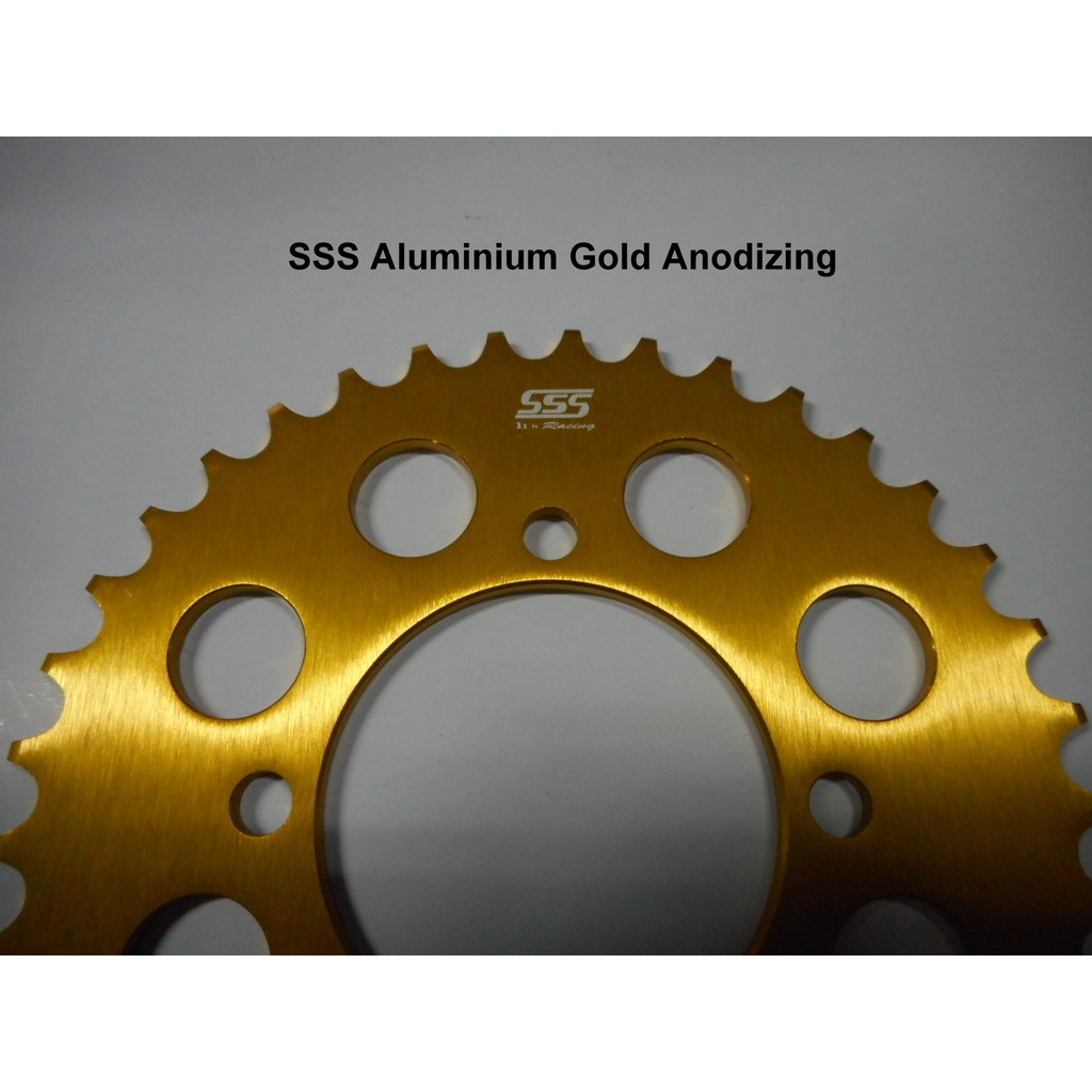 SSS 415 Aluminium Gold Anodizing Rear Sprocket for Yamaha
