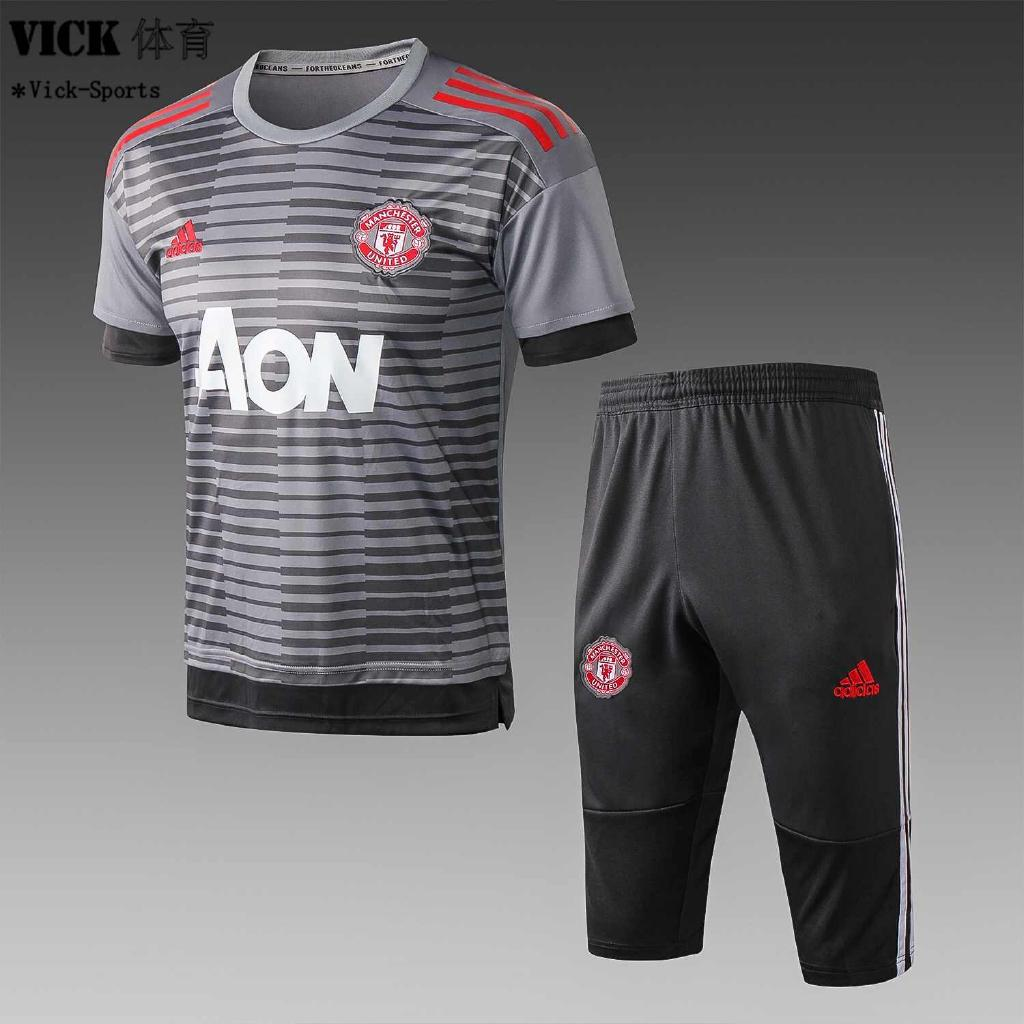 new arrival 11521 e1920 Manchester United Jersey Stripe Short Sleeve T-shirt ...