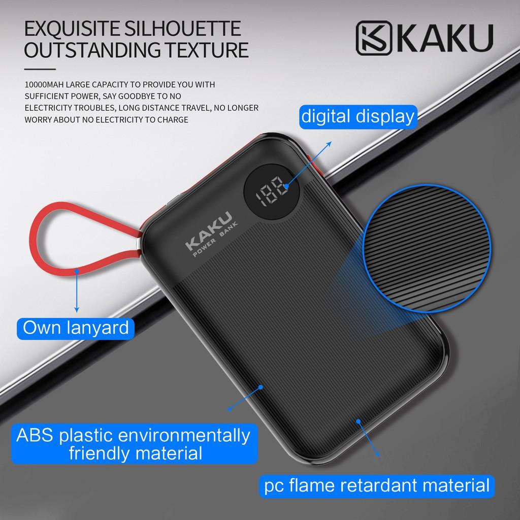 IKAKU KAKU Chuangyuan Digital Display Power Bank Lightning Type C & Mircro USB (10000mAh)