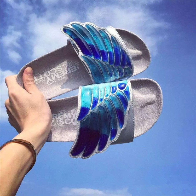 f59a9e48e90c Jeremy scott x adidas gel wing adilette slides Trendy beach slippers stock