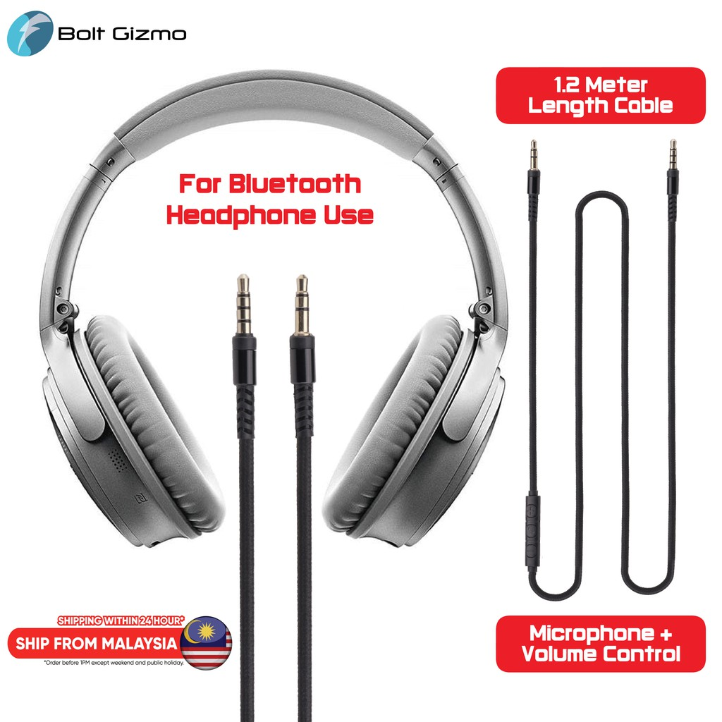 Aux Cable with Microphone for Bluetooth Headset Headphone Smartphone 3.5mm to 3.5mm Audio Cable With Volume Control Line