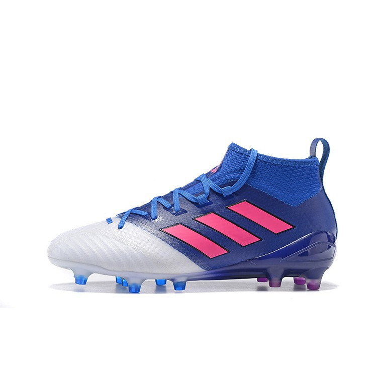 newest collection b3665 39291 Original Adidas ACE 17.1 FG blue/white/pink men's/women's football shoes
