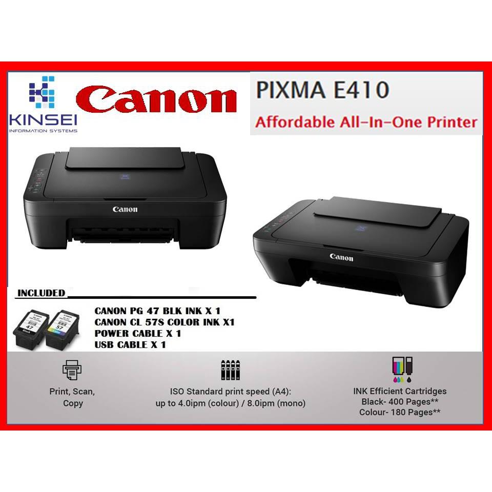 Canon E410 all in one printer print/scan/copy