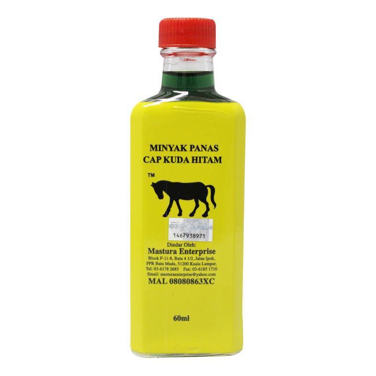 Minyak Panas Cap Kuda Hitam 60ml
