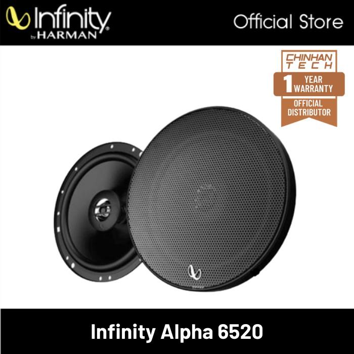 Infinity Alpha 6520 6.5 inch Two-Way Coaxial Car Speaker Peak Power 280W