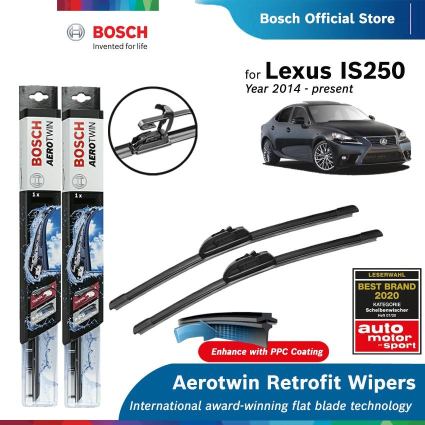 "Bosch Aerotwin Retro-Fit 22/""//22/"" Flat Front Windscreen Wiper Blades"