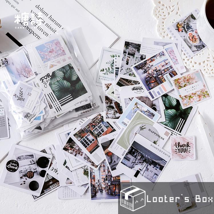 200 Pcs Instagram Style Scenery Loose Sticker Pack (K1811)