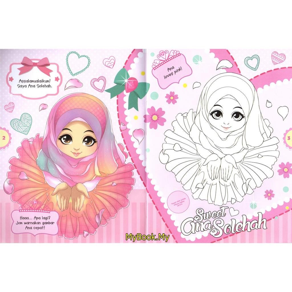 Myb Buku Aktiviti Bersama Ana Solehah Percuma Stiker 2 Mewarna Ana Muslim Shopee Malaysia