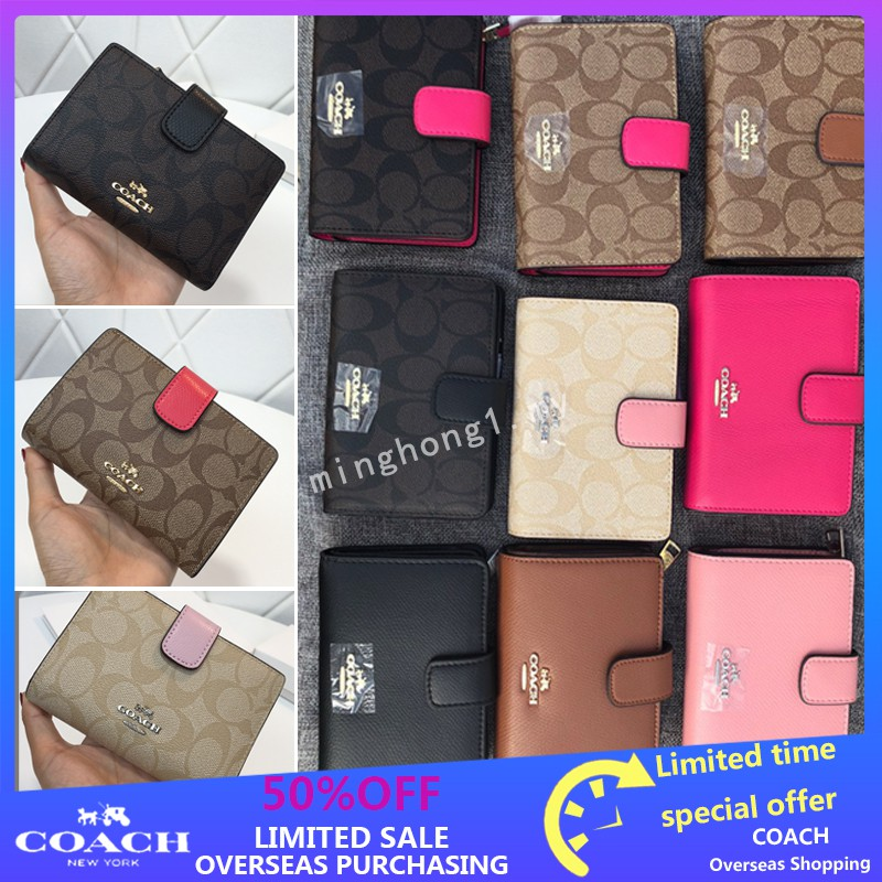 free shipping b1230 3291c Coach 53562 53436 Lady's wallet pocket change wallet in card