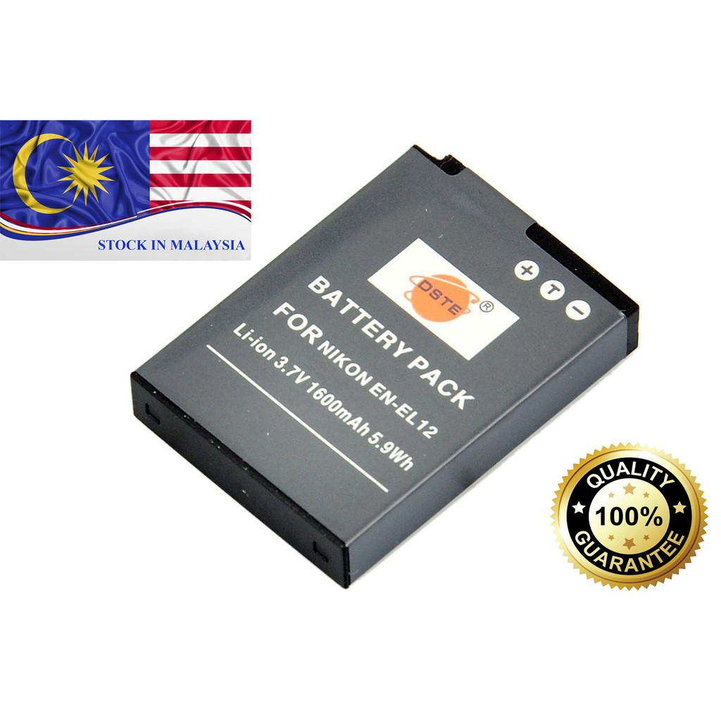 DSTE EN-EL12 Battery for Nikon Coolpix S9500 S9400 P330 S31 S620 AW110 (Ready Stock In Malaysia)