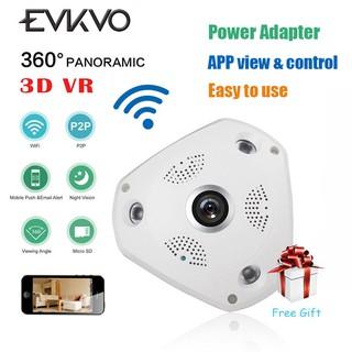 V380 APP HD 1080P Fisheye 360 Degrees VR IP Camera Wifi CCTV Night Vision  Two-Way-Talk Motion detection
