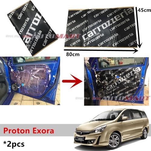 2PCS Carrozzeria High Quality Sound Damping Car Bonnet Door Proton Exora