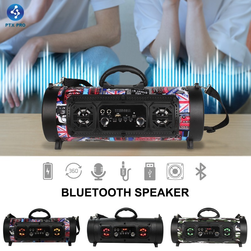 Wireless Bluetooth Speaker Boombox Street Blaster Stereo Subwoofer MP3 FM Radio