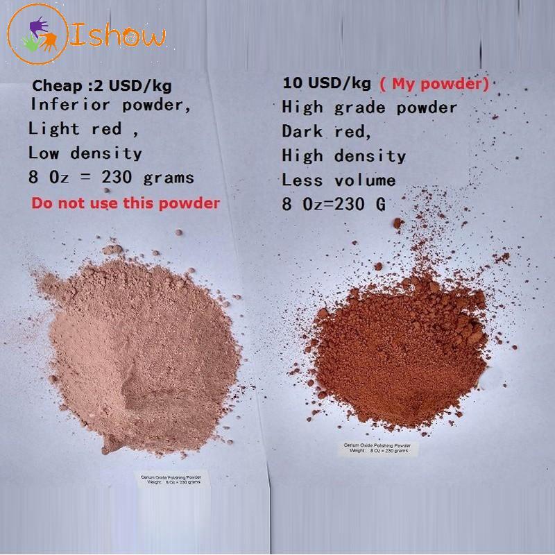 High Grade Optical Compound Glass Polishing Cerium Oxide Powder  4 or 8 Oz