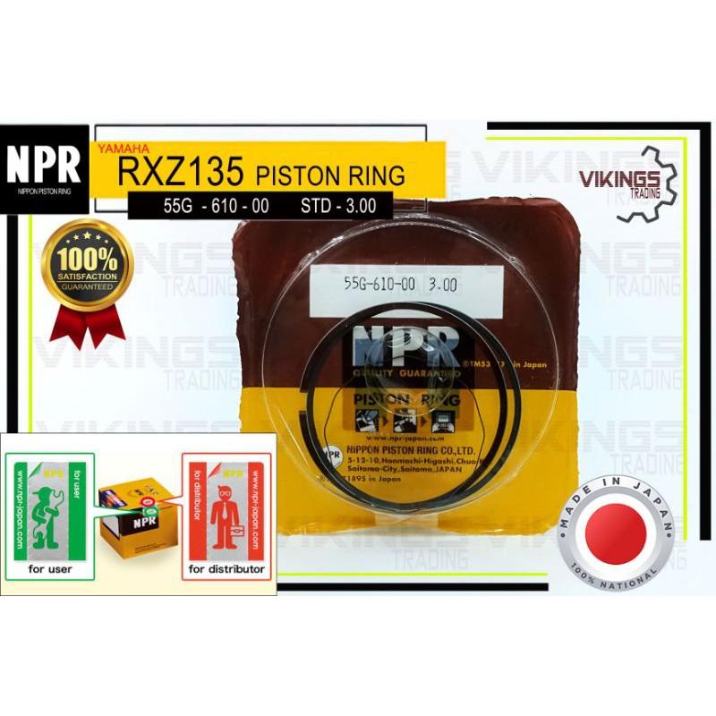 RXZ STD-300 JAPAN NPR PISTON RING (NPR) COMFIRM ORIGINAL AUTHENTIC