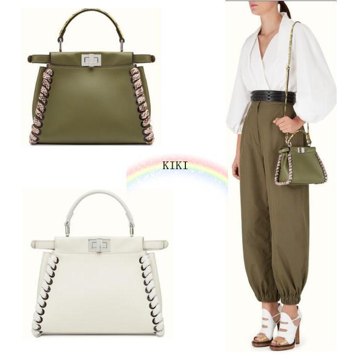 d59db0a9950d PEEKABOO MINI Green   White Selleria handbag