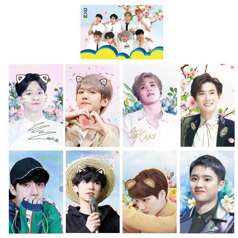 KPOP EXO Mini Cards Suho Chan Yeol HD Photo Lomo Card Photocards Gift