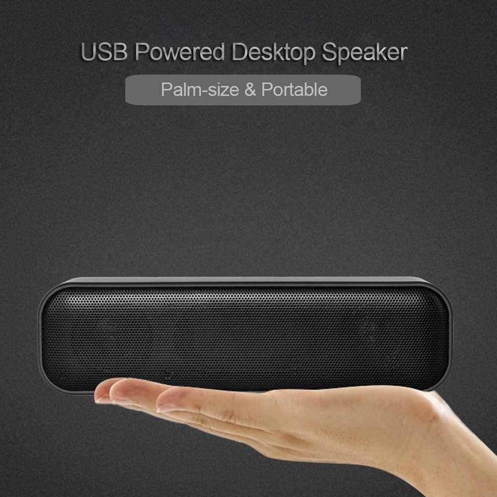 USB Powered Soundbar Desktop Speaker Wired Computer Sound Box for TV Desktop Laptop Computer (Standard)