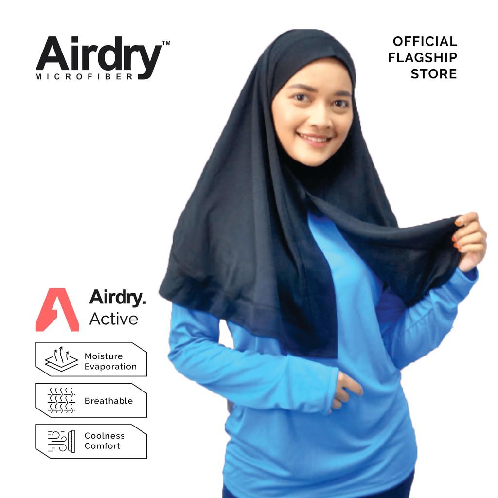 Airdry Microfiber Casual Hijab (Black) BCH13