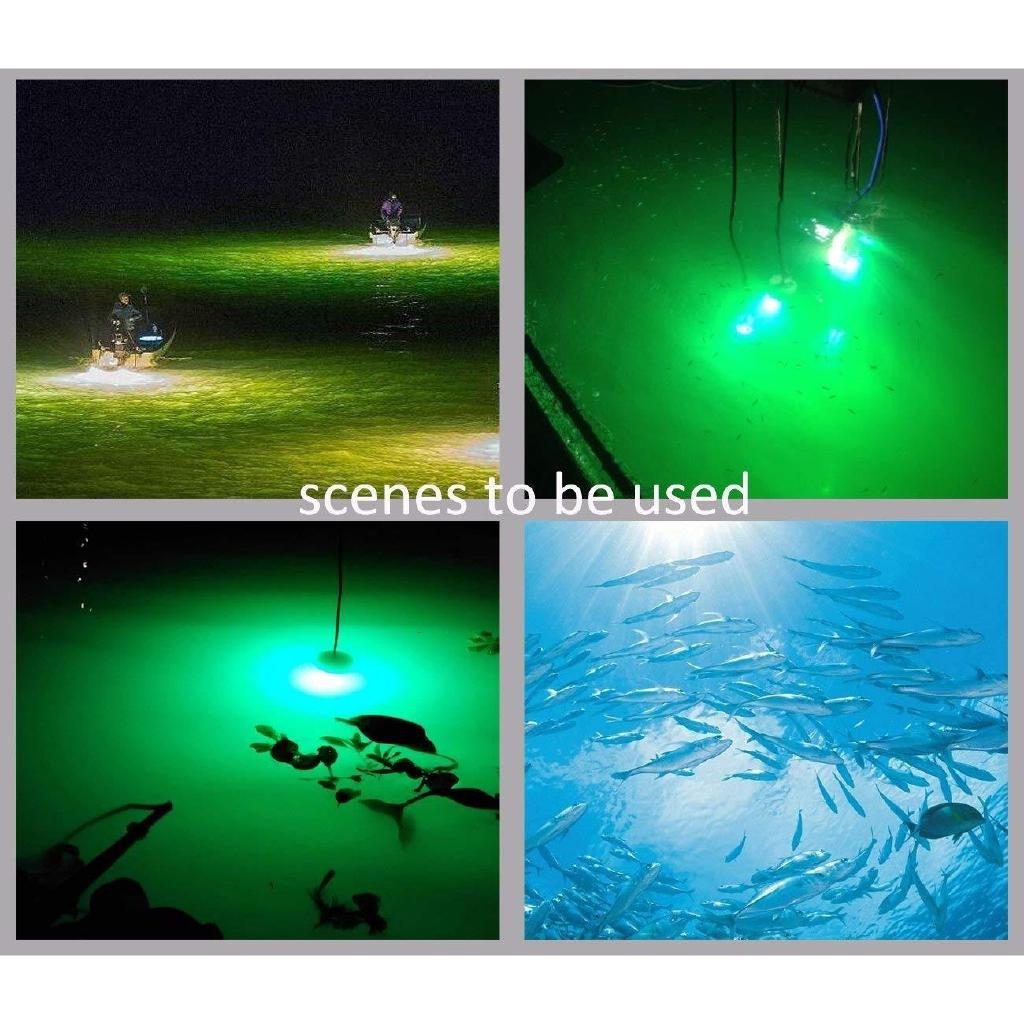 12v 24v Night Fishing Light 180 Led Underwater Boat Lamp Attracts Fish Squid