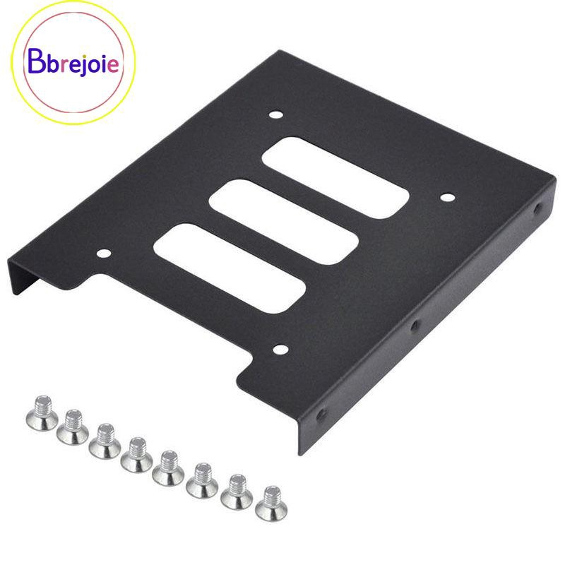 """2.5/"""" To 3.5/"""" SSD HDD Metal Adapter Mounting Bracket Hard Drive Holder For PC BB"""