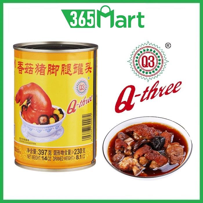 [Non-Halal] Q3 Brand Stewed Pork Leg with Mushrooms 397g Canned Food Q3 香菇猪脚腿 Non-Halal by 365mart 365 Mart