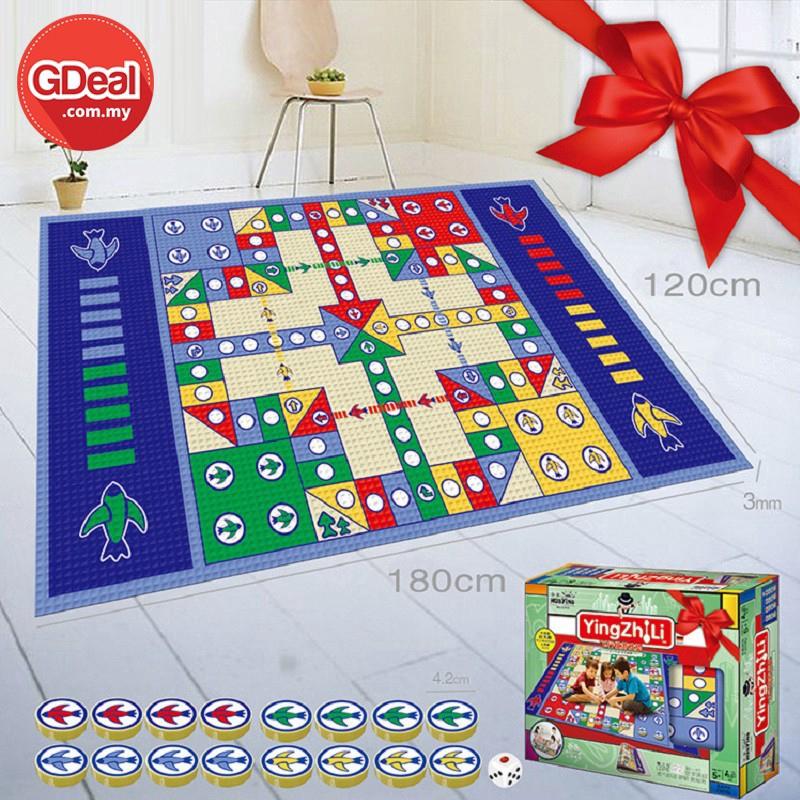 GDeal Children Flying Chess Game Carpet Aeroplane Chess Mat Play Mat Educational Picnic Mat Child Mat (180cm x 120cm)