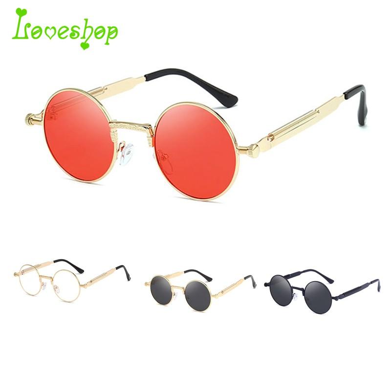 5e1fe6891 New Flip Up Steampunk Sunglasses Men Round Vintage Mens Sunglass Brand  Designer | Shopee Malaysia