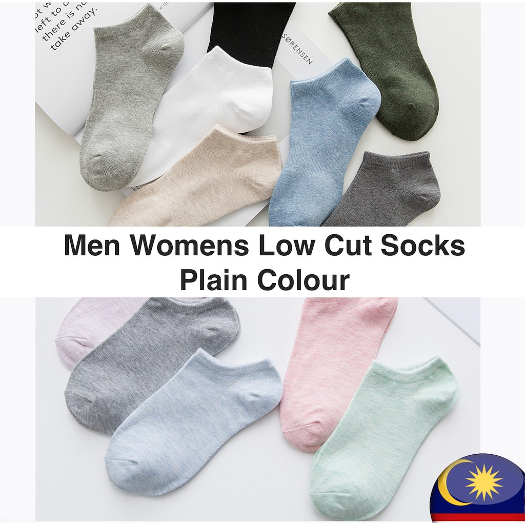 ZDL Men Womens Low Cut Socks, Plain Color, Ready Stock