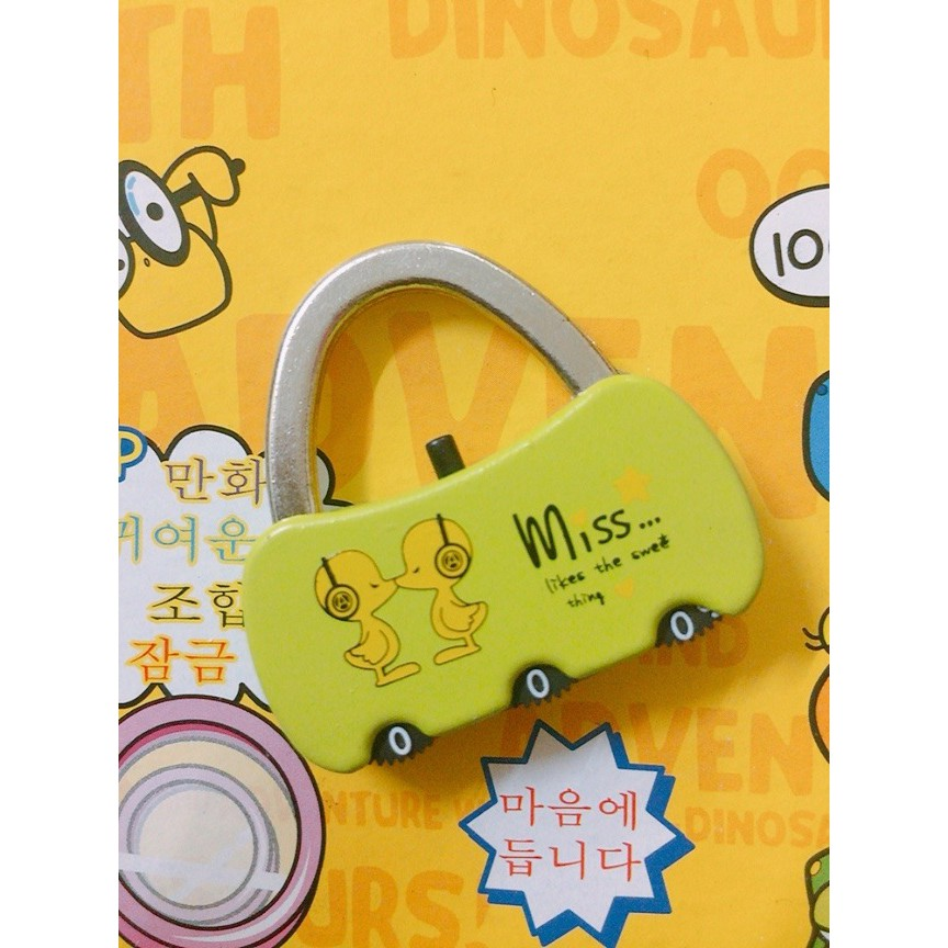 Lovely Cartoon 3 Numbers Alloy Password Traveling Lock Luggage Drawer Cabinet Security Padlock Premium Quality HL017
