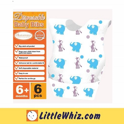 Autumnz: Disposable Baby Bibs - 6pcs