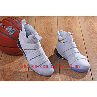 official photos d77a3 ecd64 100% Original Nike LEBRON soldier James soldiers 11 Sports real basketball  shoes