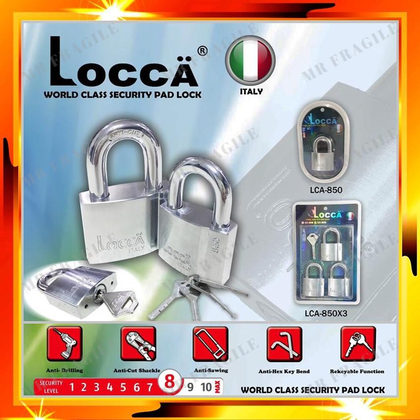 Locca 50mm World Class Security Heavy Duty Anti Cut Padlock & Keyalike System 2pcs / 3pcs / 4pcs / 5pcs Set