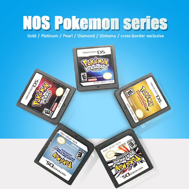 Clearance! Nintendo DS 3DS NDSi NDS Lite Game Card DS Game Card Pokemon  Heart Gold+Soul Silver