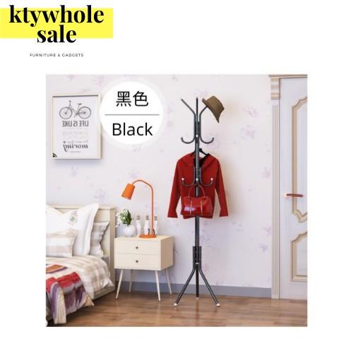 KTY 9/12 Hooks Cloth Hat Jacket Standing Hanger Rack Holder European Style Metal Hanger Rack with 9/12 Hooks