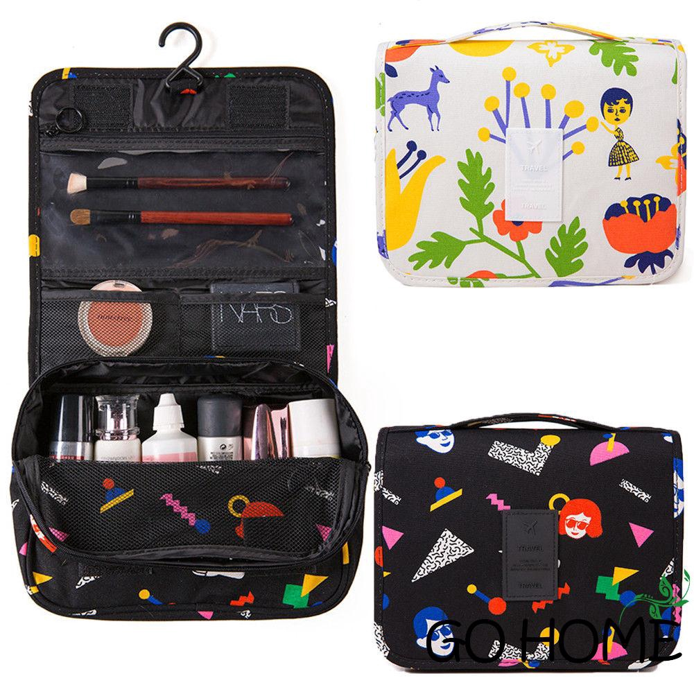 fdc8ab7ccdae ♨G-H-Portable Travel Toiletry Bag Polyester Organizer Cosmetic Case Makeup