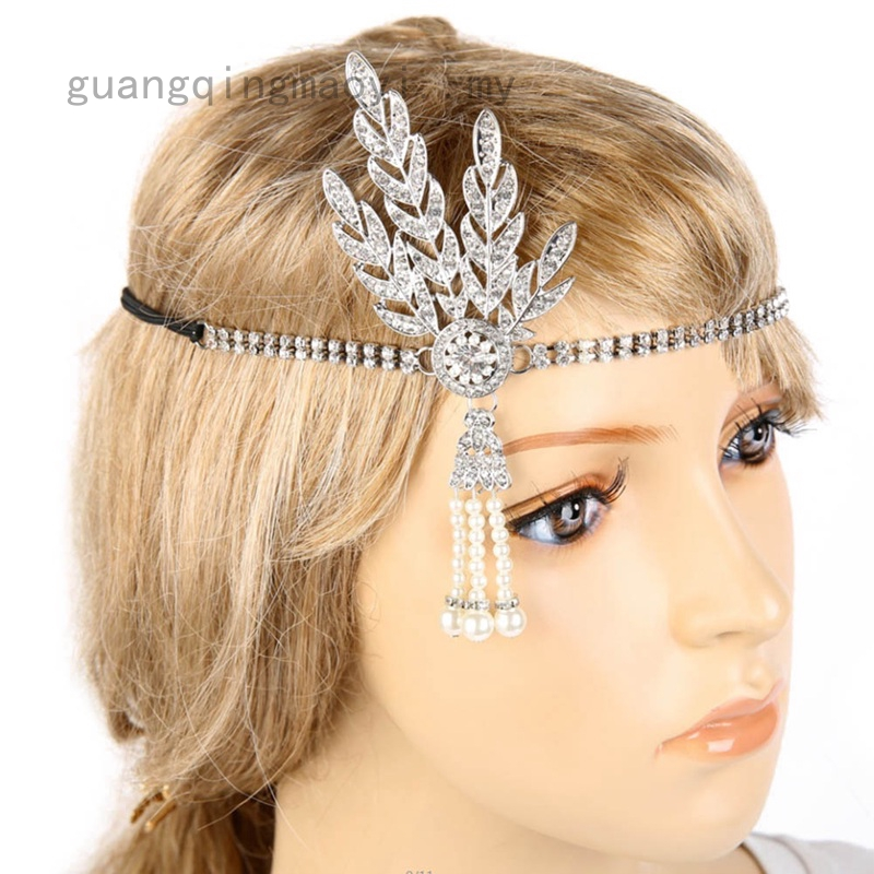 1920s Vintage Bridal Headpiece Costume Hair Accessories Flapper Great Gatsby