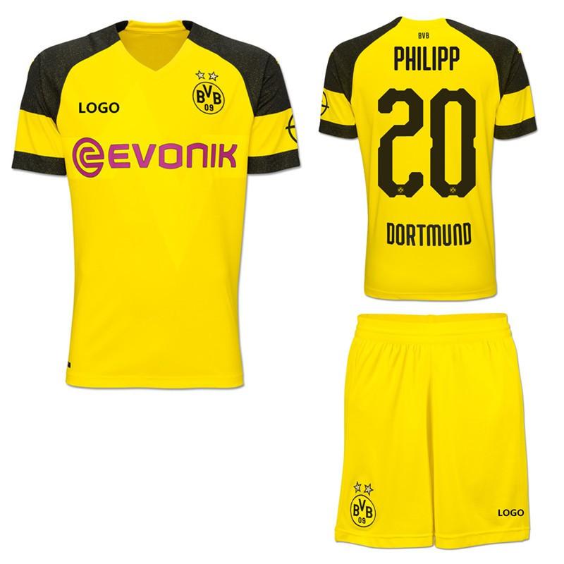 e28e26a9fdb 2018-2019 Dortmund No.22 Pulisic Home Kit Football shirt Soccer jersey