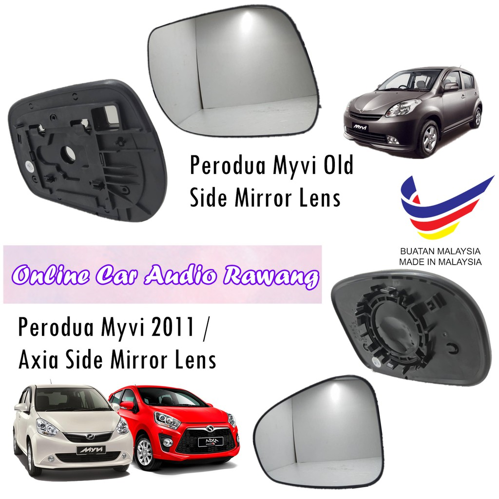 Side Mirror Lens -Perodua Myvi Old/Myvi L/B/Axia